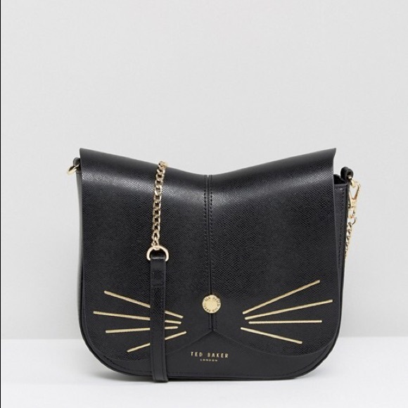 db1d105cef Ted Baker Cat Black Leather Crossbody Bag Shoulder